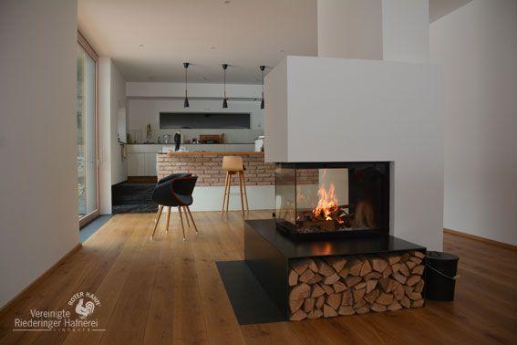 Moderner Heizkamin Mit Lagerfeuerromantik Und Stahl Holzlege