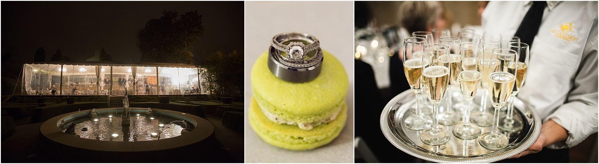 night wedding, champagne, macaron, Crescent Bend wedding, Knoxville wedding, winter wedding, vintage wedding, Crescent Bend Knoxville TN, JoPhoto, www.JoPhotoOnline.com/blog