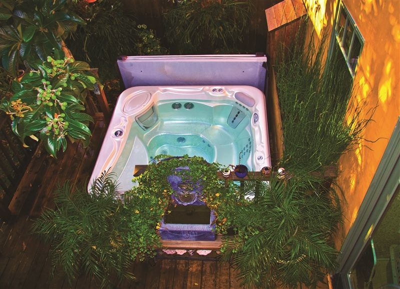 Pin By Laura Murphy On For The Home Hot Tub Landscaping Hot Tub Backyard Hot Tub