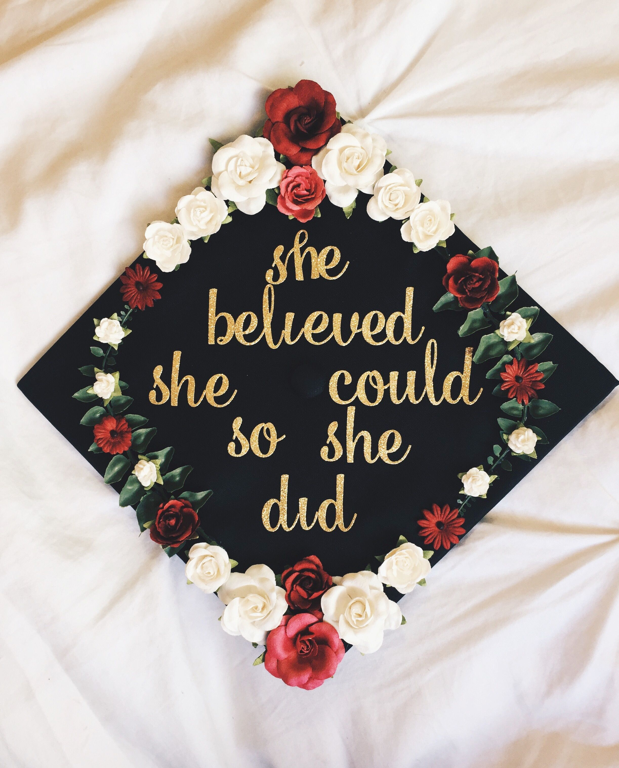 graduation cap 2017 she believed she could so she did Grad caps