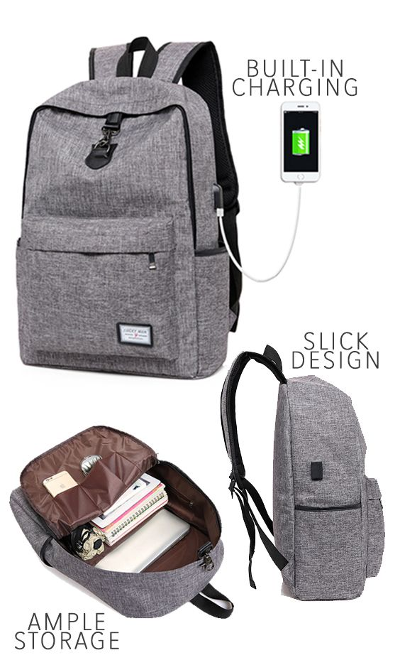 Sale Travel Backpack With Built In Usb Charging Ample Storage