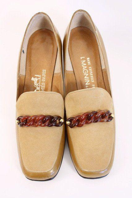 3e1f453024d Vintage 70 s HERMES Loafer Heels