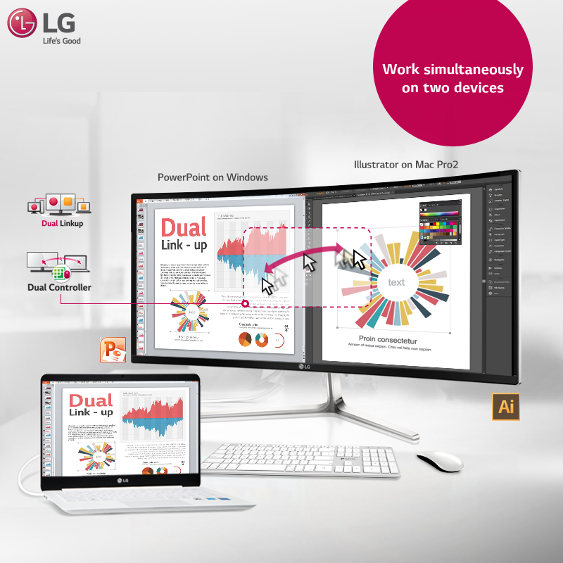 Now connect different devices with dual link up software