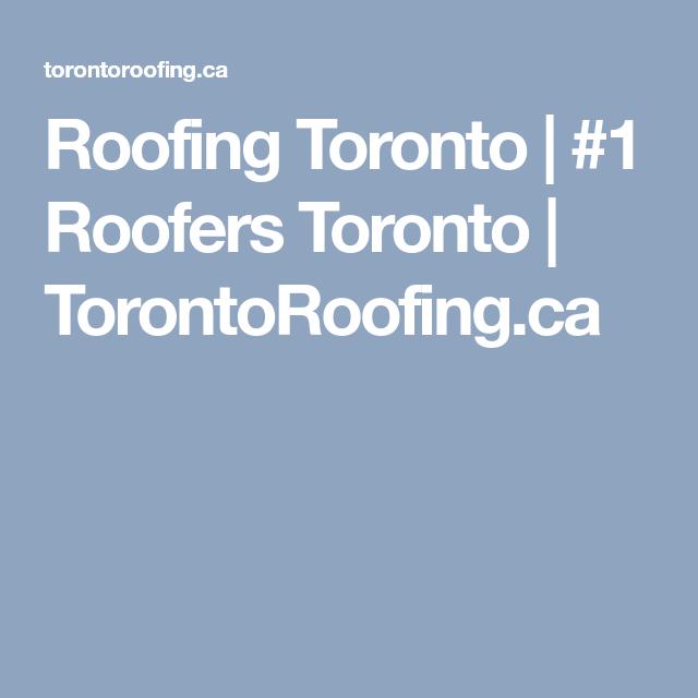 #1 Roofers Toronto