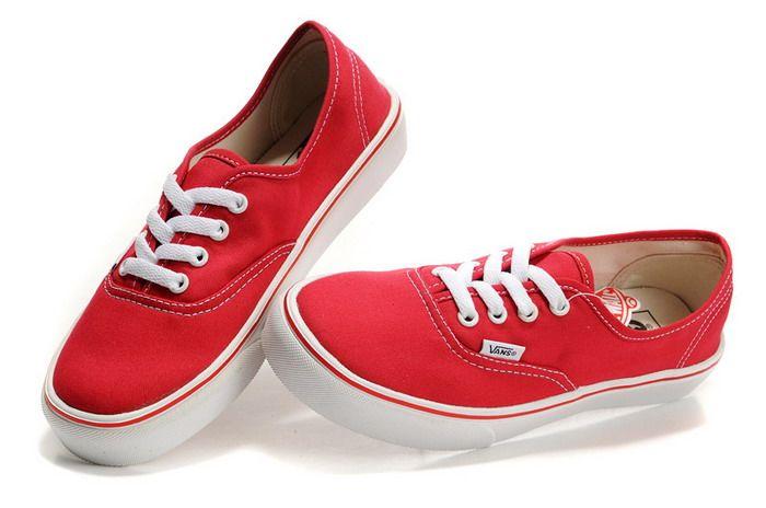 30baece1937fdf Red Vans Mens Classics Canvas Shoes On Sale  56.00