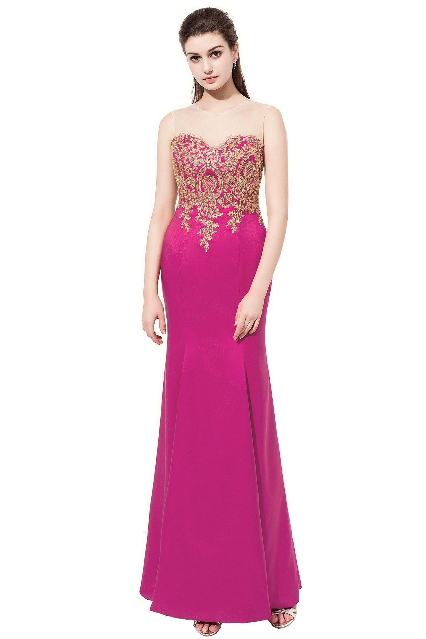 Yinyyinhs Women\'s Vintage Mermaid Prom Long Evening Dresses Size 18 ...