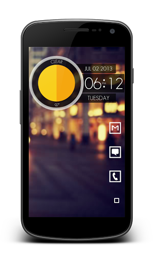 Clean, simple, and minimal android home screen layout and design ...
