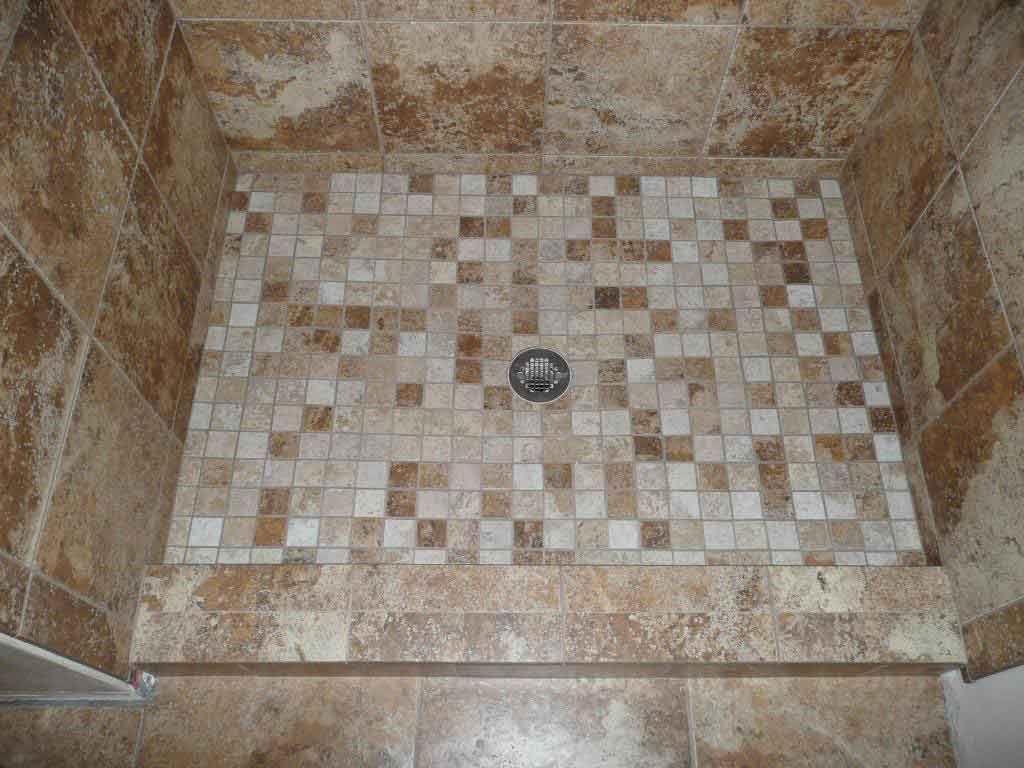 Mosaic Shower Floor Tile Idea Probably Excellent Design Alternative For  Your Design Idea, Itu0027s Has