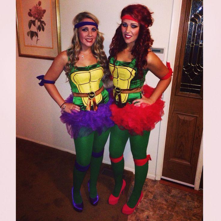 tmnt teenage mutant ninja turtle womens costume tutu sister costume halloween turtles cute friend costumes matching - Matching Girl Halloween Costume Ideas