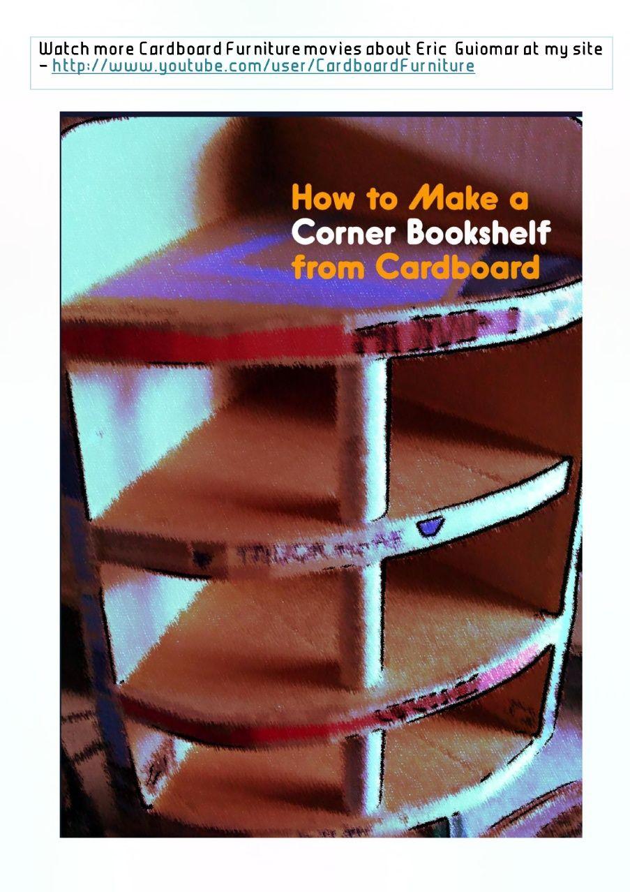 How To Make A Corner Book Shelf From Cardboard Tutorial