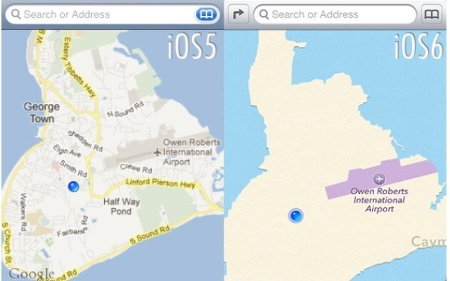 iPhone Maps.