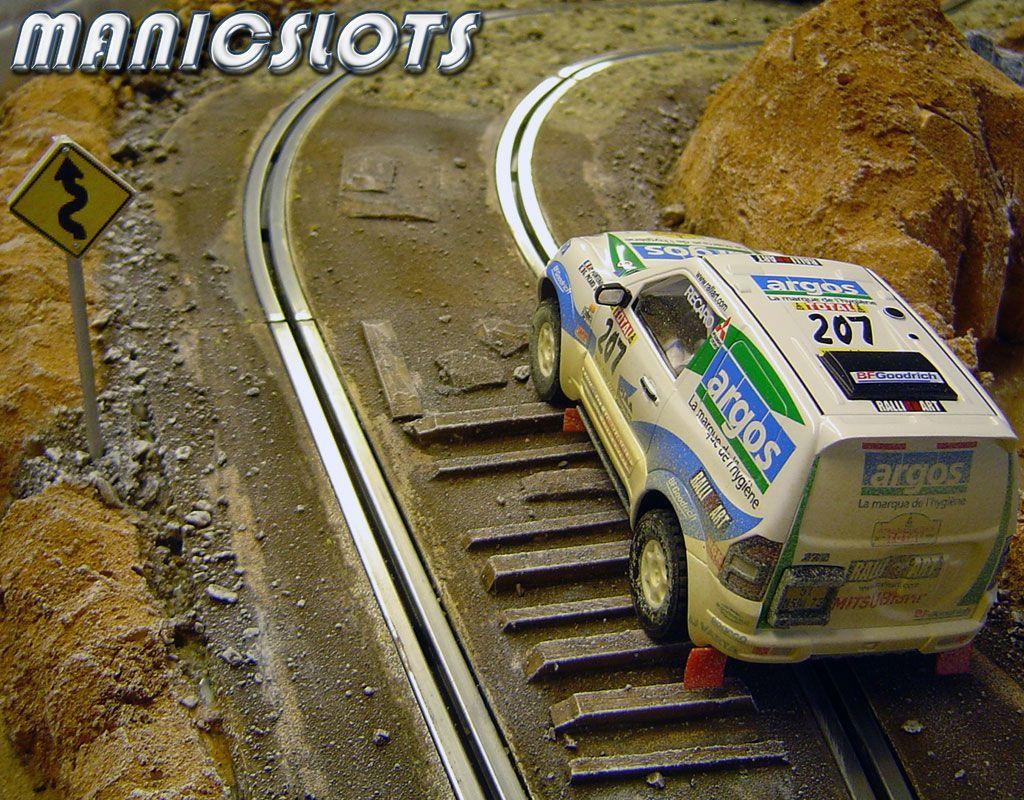 Slot car, Scenery, Ninco, RAID rally, Howto Slot cars