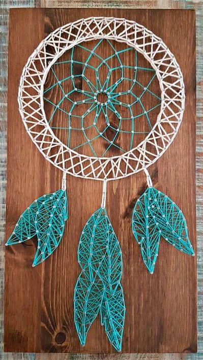 Dreamcatcher Feathers Custom String Art String Art Pinterest