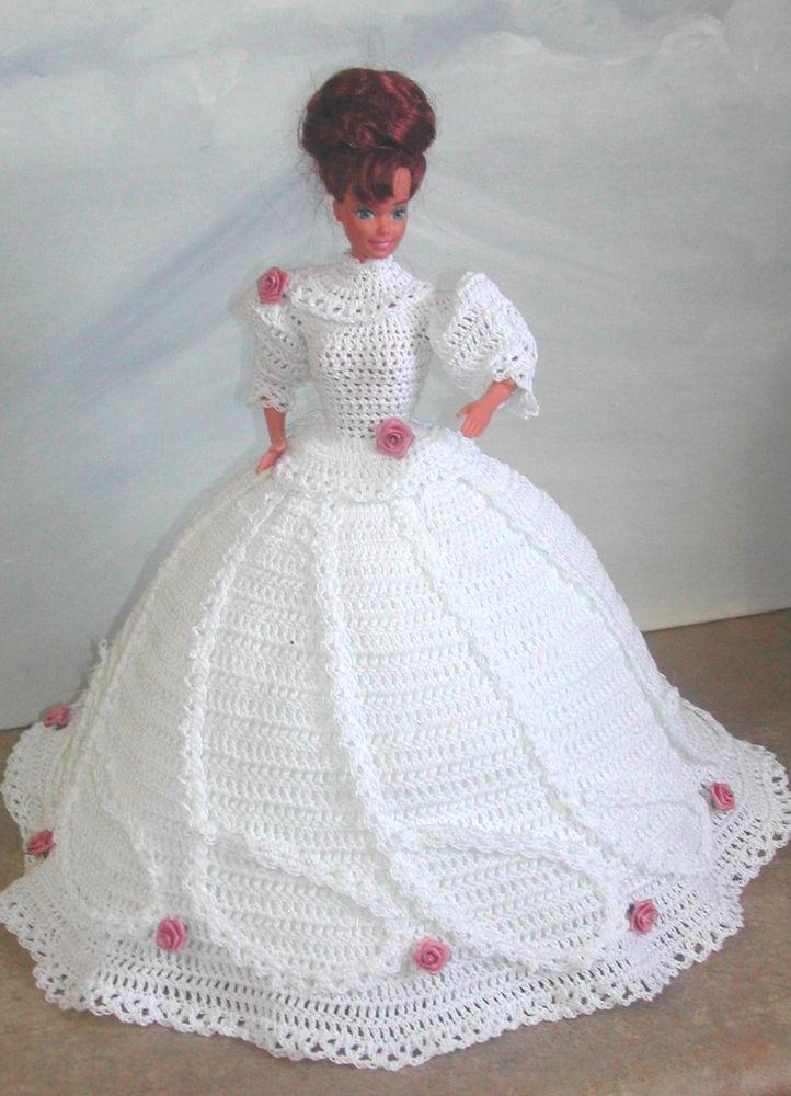 Crochet fashion doll pattern-#510 love story   Muñecas, Vestidos de ...