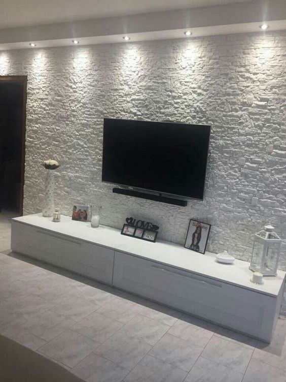 THE PERFECT TV WALL WILL SURPRISE THE GUESTS - Page 40 of 56 - yeslime #wallpaper