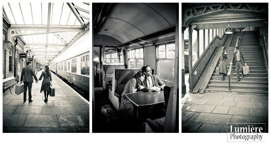 1940 Pre Wedding Shoot In Loughborough Grand Central Station