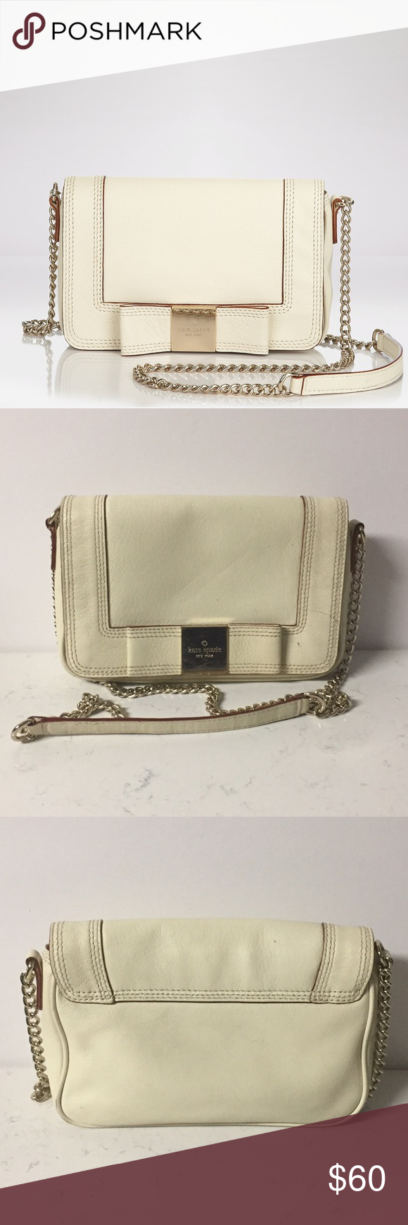 Kate Spade NY Shoulder Bag In good USED condition but such a beautiful style outside has minor signs of wear check pics and inside has removable signs of wear on the bottom beautiful bag and style. Also small marks on the Kate spade sign. 0123413789 Primrose Hill Little Kaelin style kate spade Bags Crossbody Bags