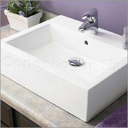 DecoLav Classically Redefined Rectangular Ceramic Vessel Sink With Overflow      Bathroom Sinks   Bathroom Fixtures   Bed U0026 Bath