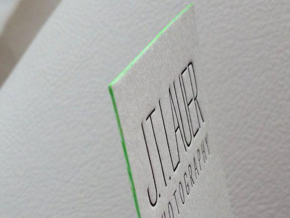 150 Letterpress Business Cards 1 Color 1 Side Rives 400 Gsm