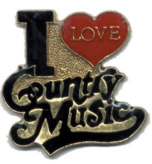 I Love Country Music Lapel Pin 12 count Lot