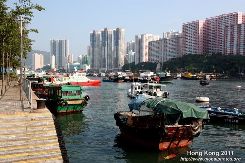Aberdeen's typhoon shelter is still home to many fishing boats, although the number of boat people have dwindled over the years.
