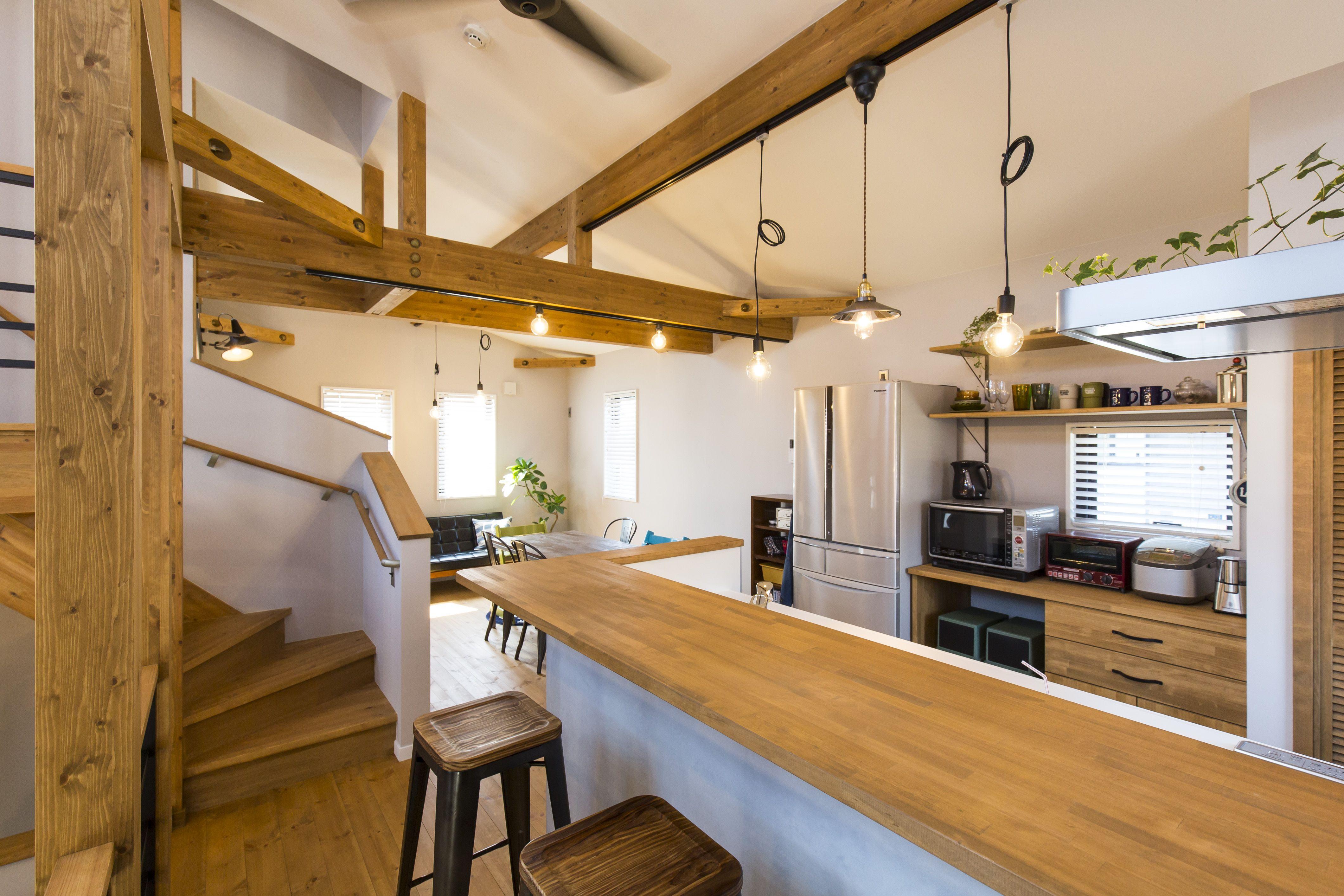 キッチン モルタル仕上げ カフェ風 インテリア実例 Bino