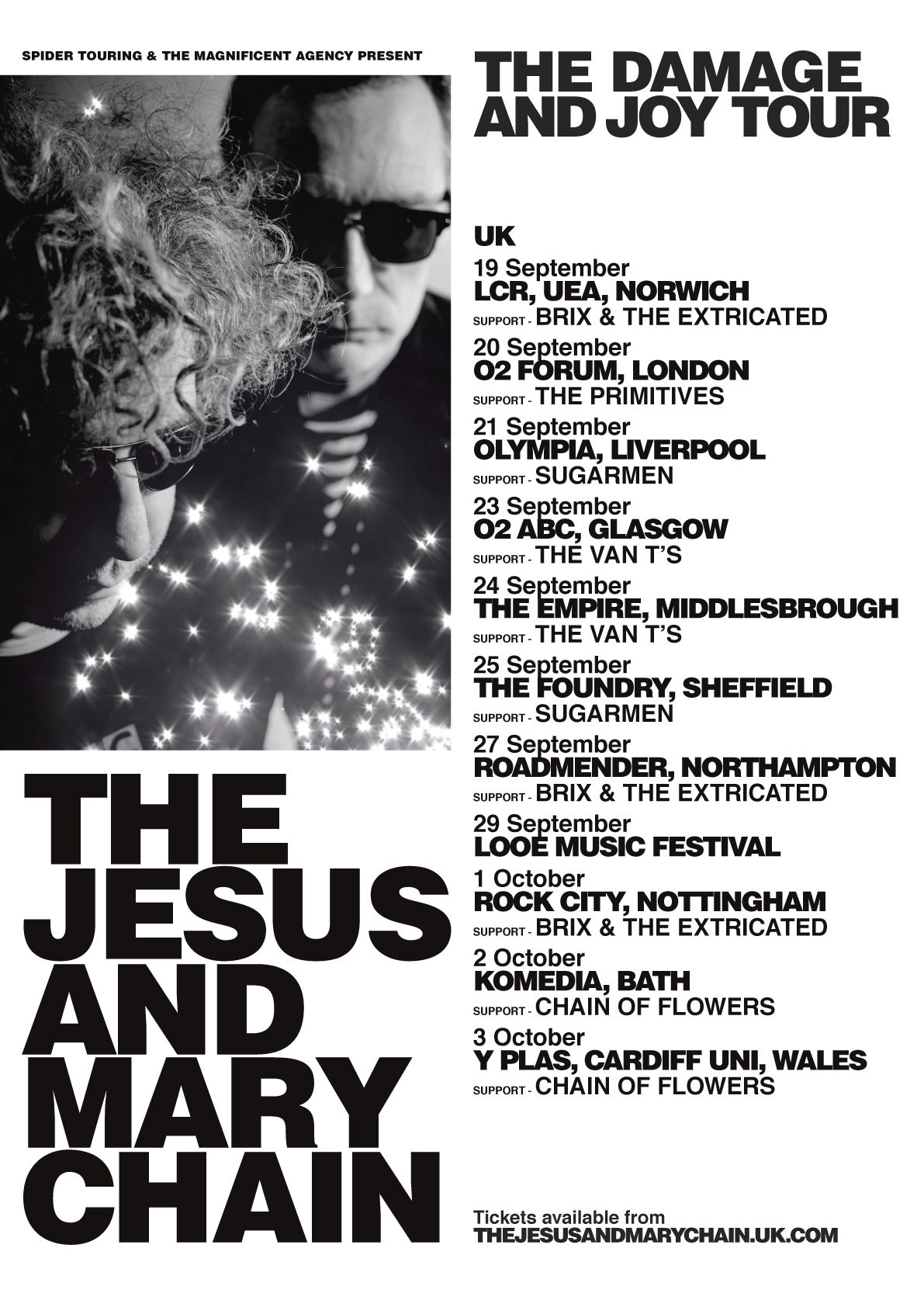 The Jesus Mary Chain Official Site Music Concert Posters