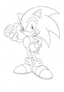 Sonic The Hedgehog Coloring Page Super Coloring Hedgehog Colors How To Draw Sonic Hedgehog Drawing