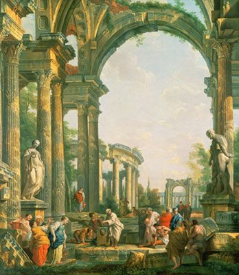 Classical Ruins Mural - Giovanni Paolo Pannini| Murals Your Way
