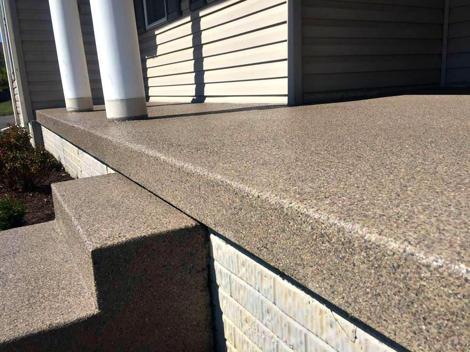 Close Up Graniflex Porch 360 Coatings Concrete Patio Makeover