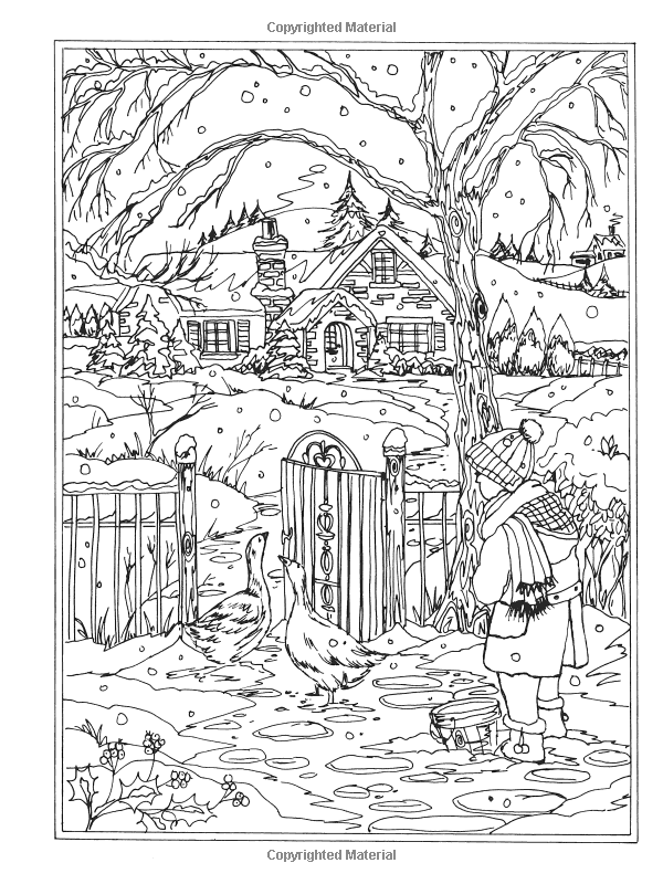Amazoncom Creative Haven Winter Wonderland Coloring Book Adult