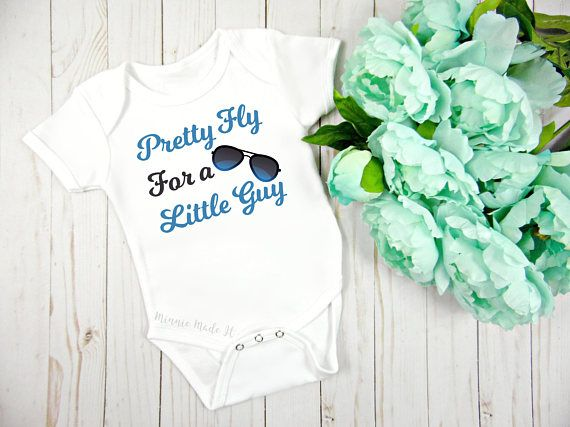 082a0c985b1a Pretty Fly For A Little Guy - Cute Baby Boy One Piece - Perfect Baby ...