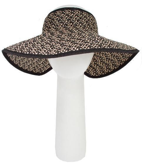 633d9629acd Looks like a crownless sun hat but it s a stylish wide brimmed sun visor  which rolls up and ties for easy transport.