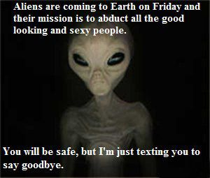 Image result for aliens are coming funny