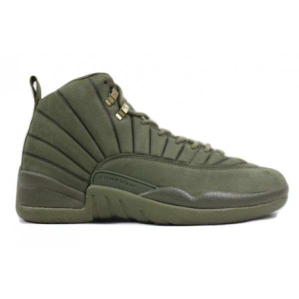 ba78e8176136 Air Jordan x PSNY 12 Retro Olive Pre Order ( 900) ❤ liked on Polyvore  featuring shoes