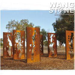 acero corten jardn arte rbol esculturas de metal oxidadoen esculturas de regalos y artesana