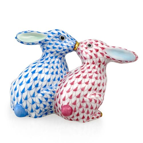 Herend kissing bunnies easter gifts holiday gifts gift ideas porcelain herend kissing bunnies easter gifts negle Image collections