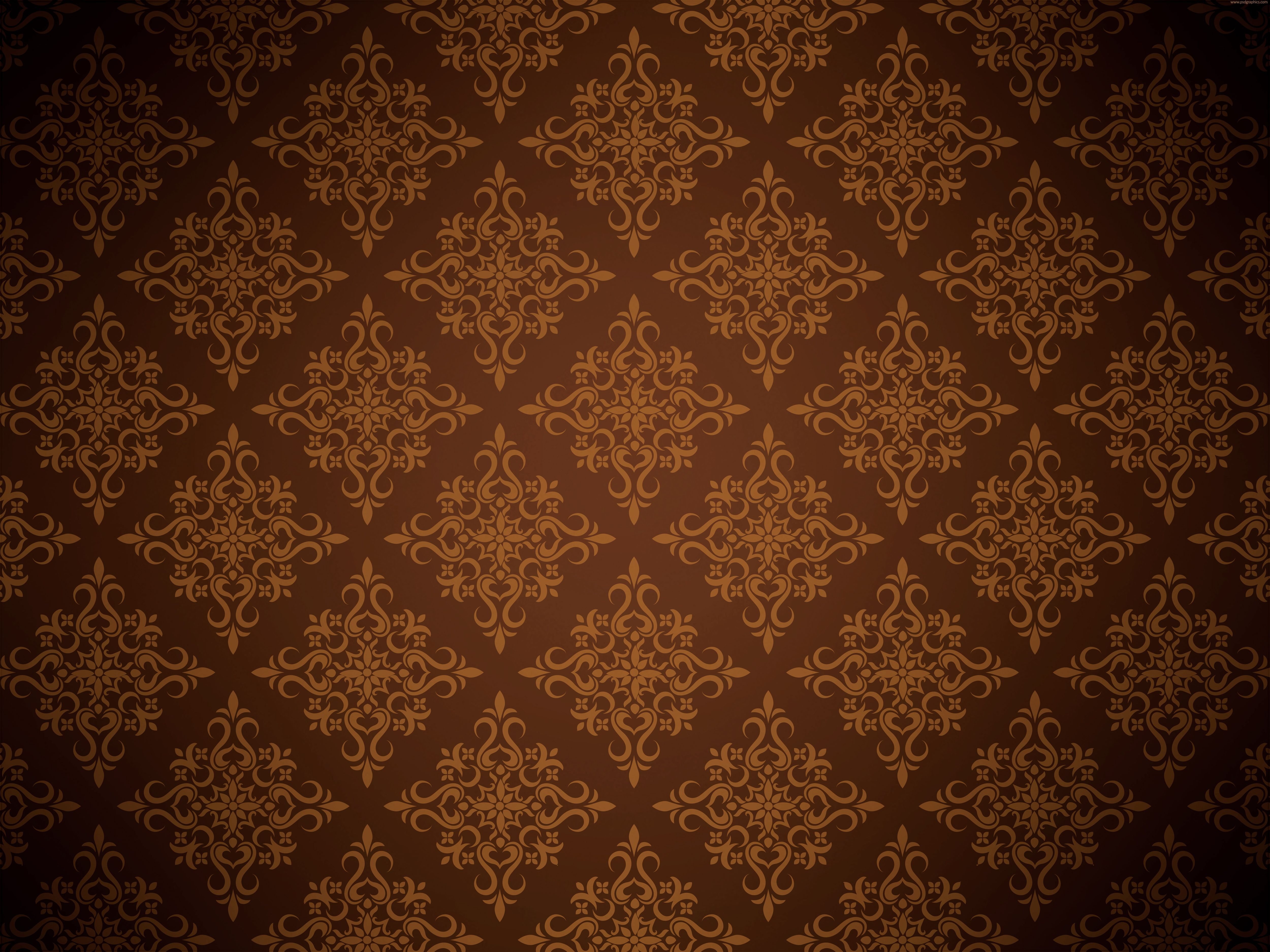 Brown Floral Picture Design Textured Wallpaper Textured Background