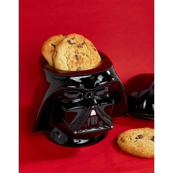Star Wars Darth Vader Cookie Jar (160 BRL) ❤ liked on Polyvore featuring home, kitchen & dining, food storage containers, multi, black food storage containers, star wars cookie jar, darth vader cookie jar and black cookie jar