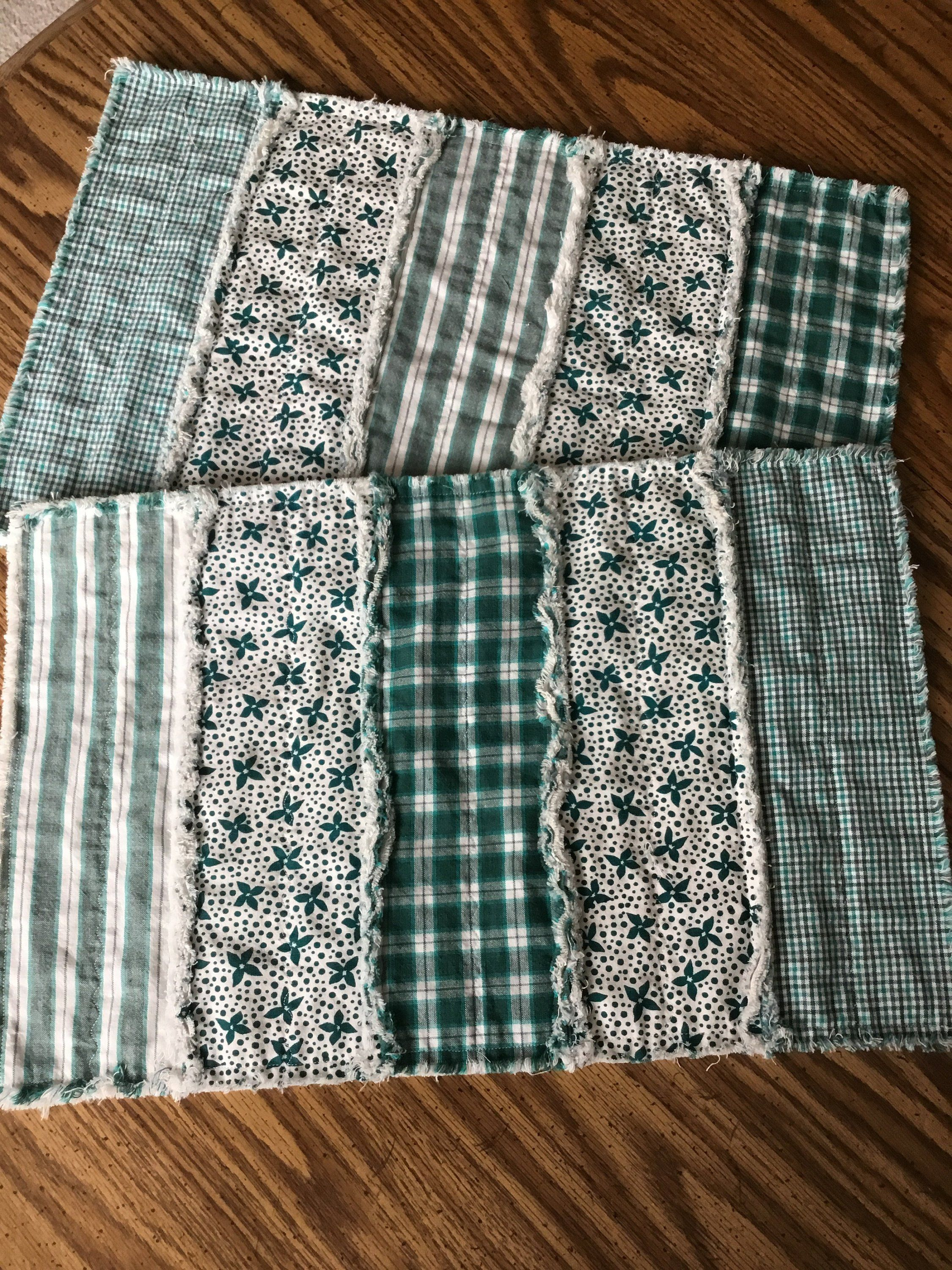Quilted Country Placemats Farmhouse Placemats Set Of 2 Placemats
