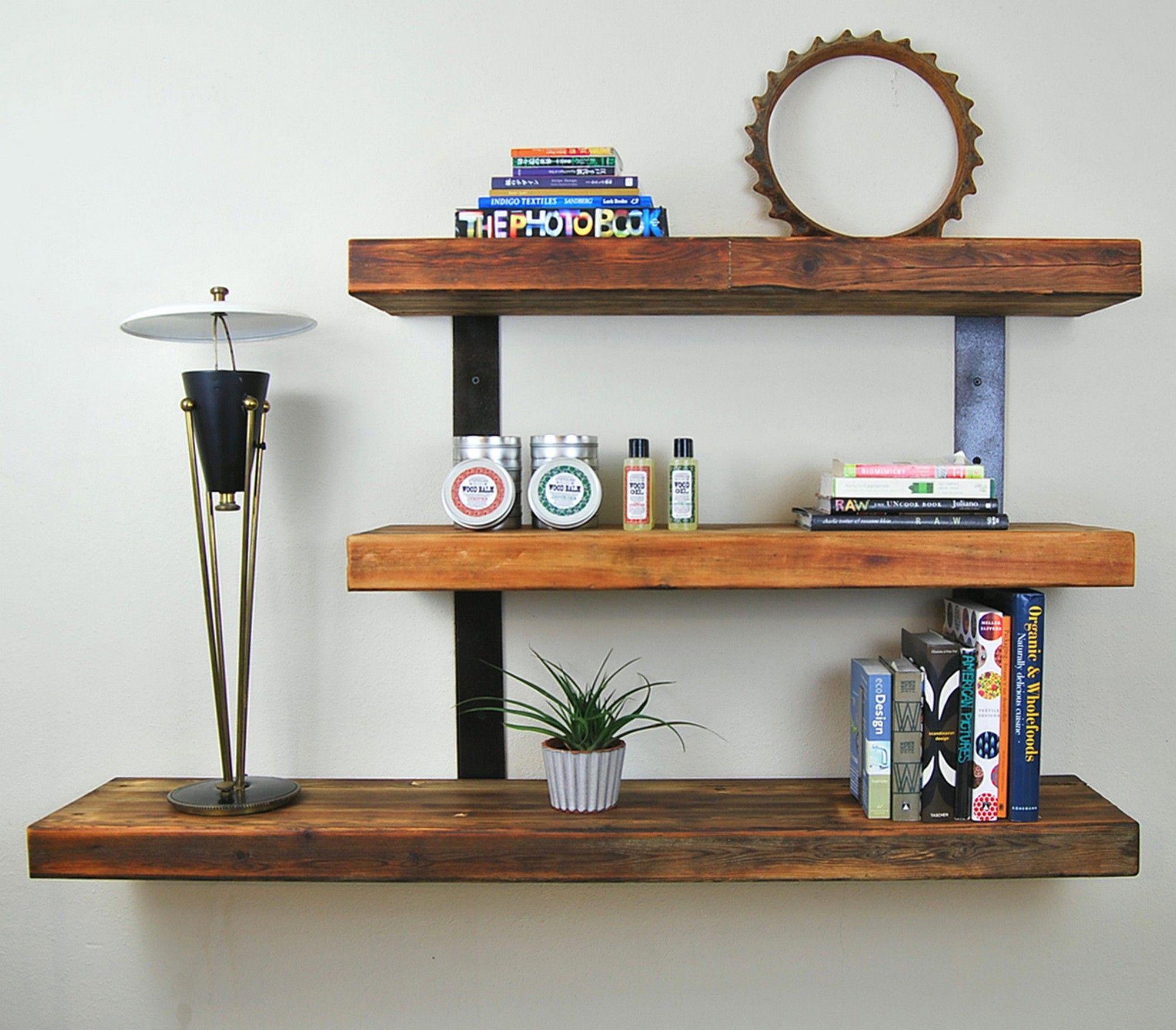 Wooden wall shelves ideas. Wood floating shelves, Ikea