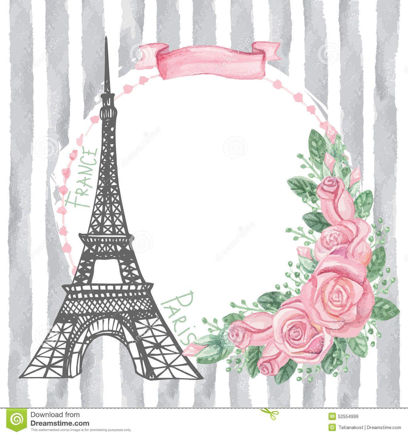 Resultado De Imagen Para Torre Eiffel Vintage París Rosa