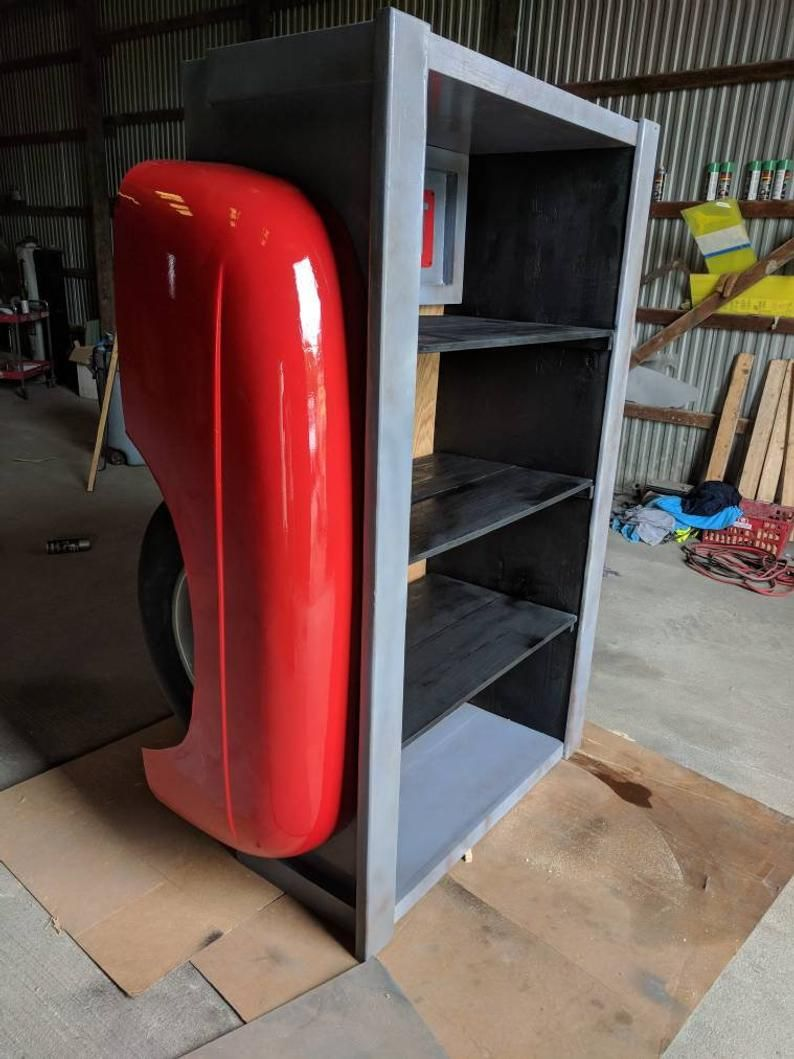 Stepside Truck Bed Shelf Mancave Decor Garage Furniture Office