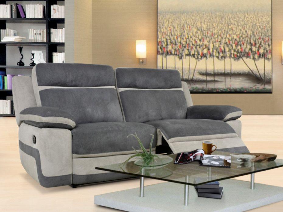 Canape 3 Places Relax En Microfibre Talca Online Mobel Sofa Wohnen
