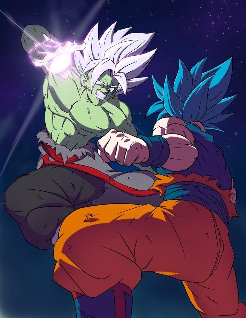 Goku Vs Fused Zamasu Anime Dragon Ball Super Dragon Ball Artwork Dragon Ball Art
