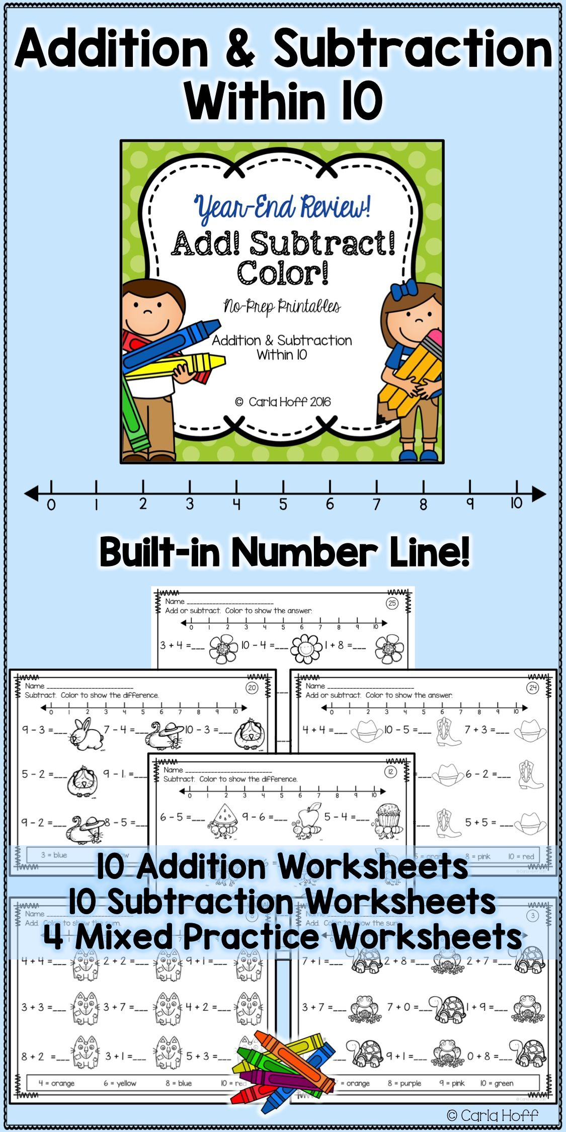 Year End Addition And Subtraction Within 10