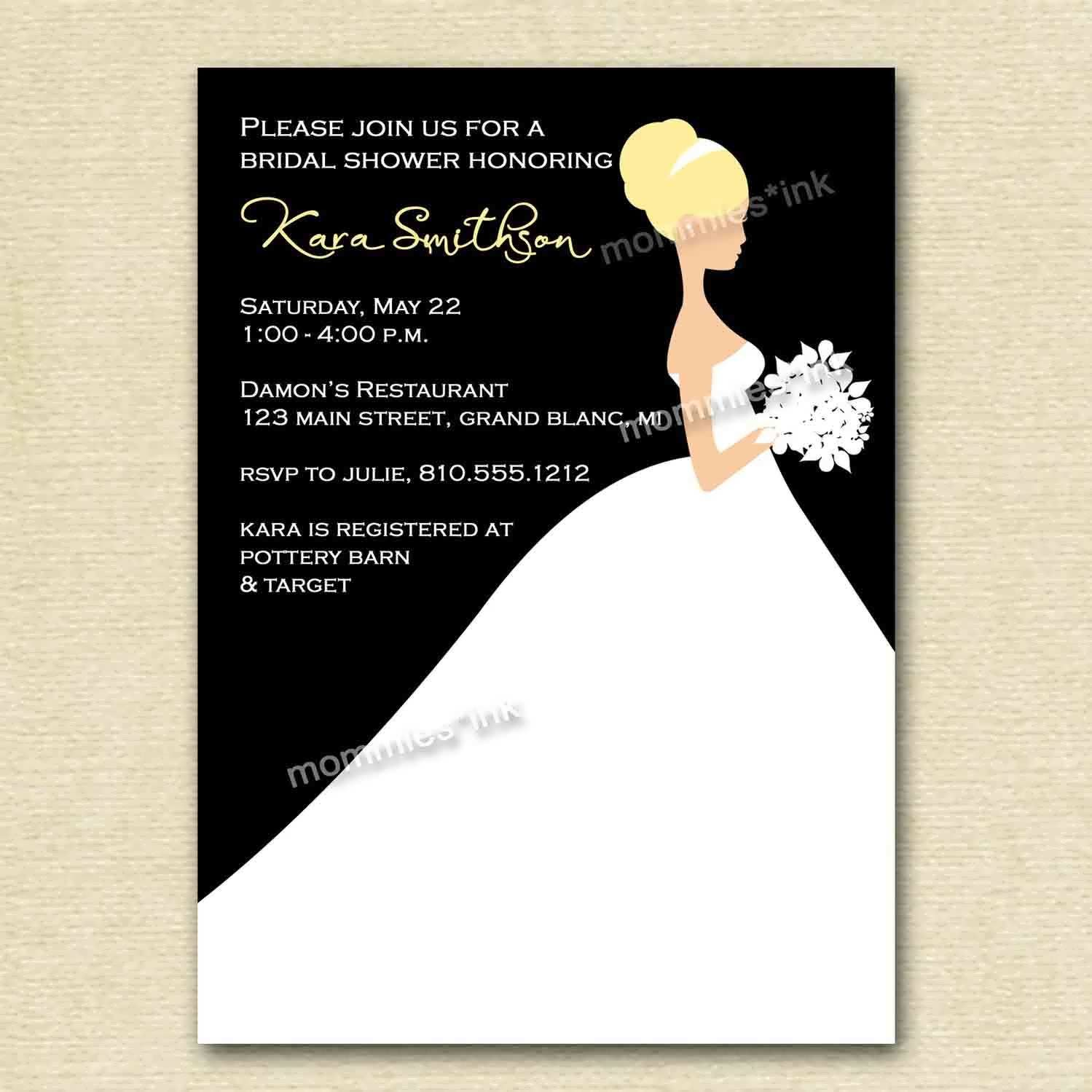 Bridal Shower Invitation Template #bridal #shower #invitation ...