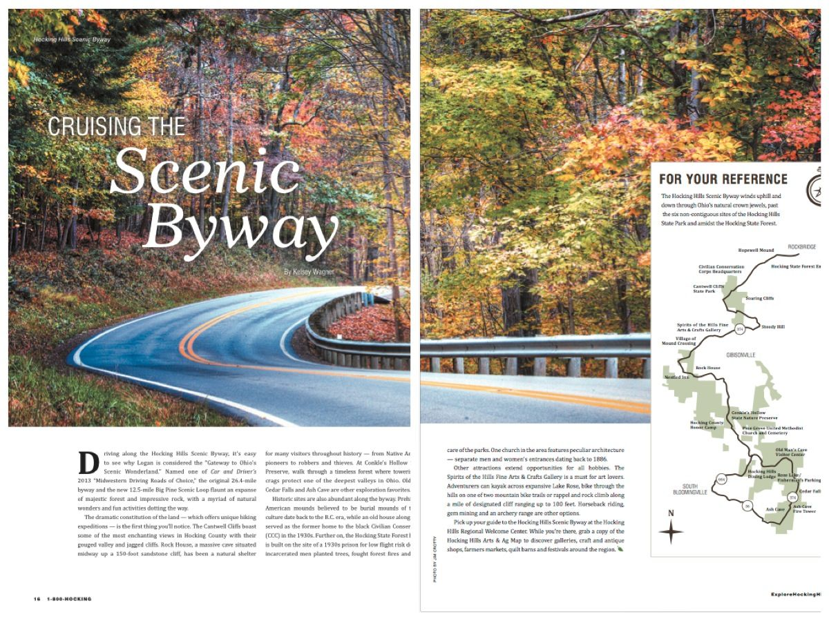 The 2016 Hocking Hills Visitors Guide.