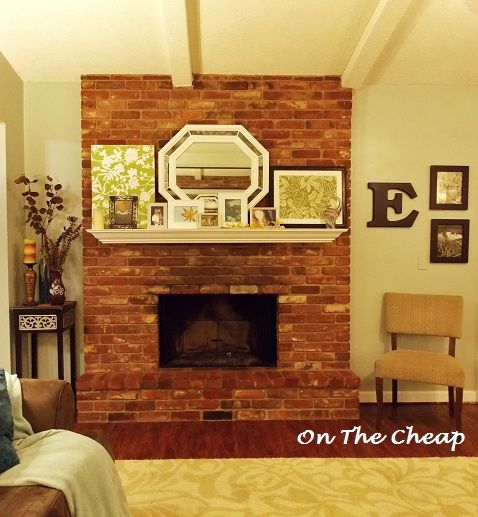 Bricks & Fire. | Red brick fireplaces, White mantel and Brick ...