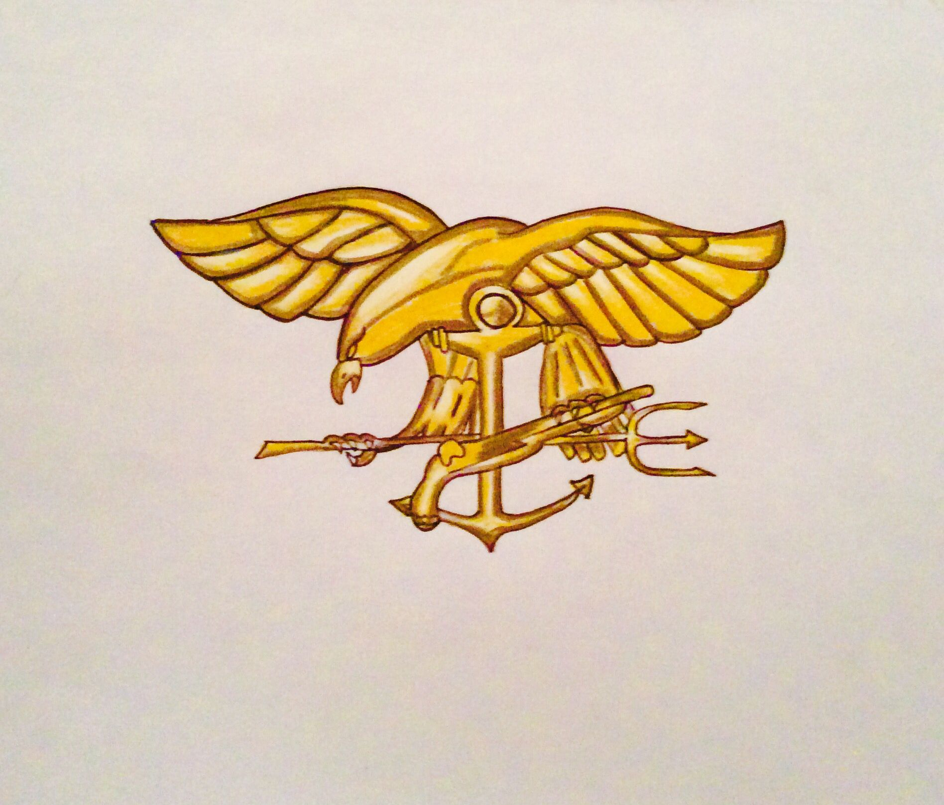 Navy Seals Trident done by Ashlin Gomez♥️ Navy seal